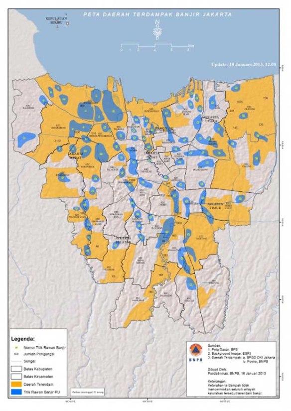 1 peta banjir