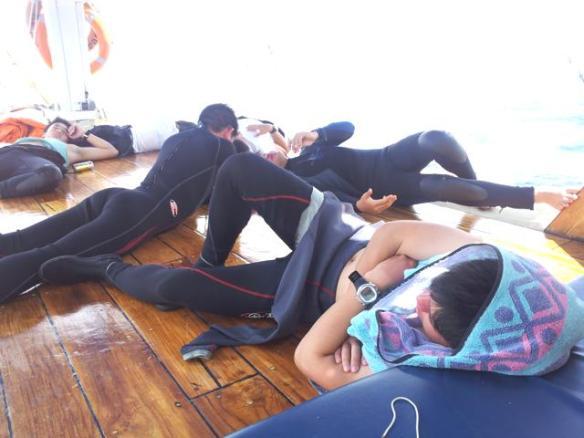 Kecapekan setelah diving