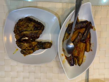 Ayam bakar + Terong
